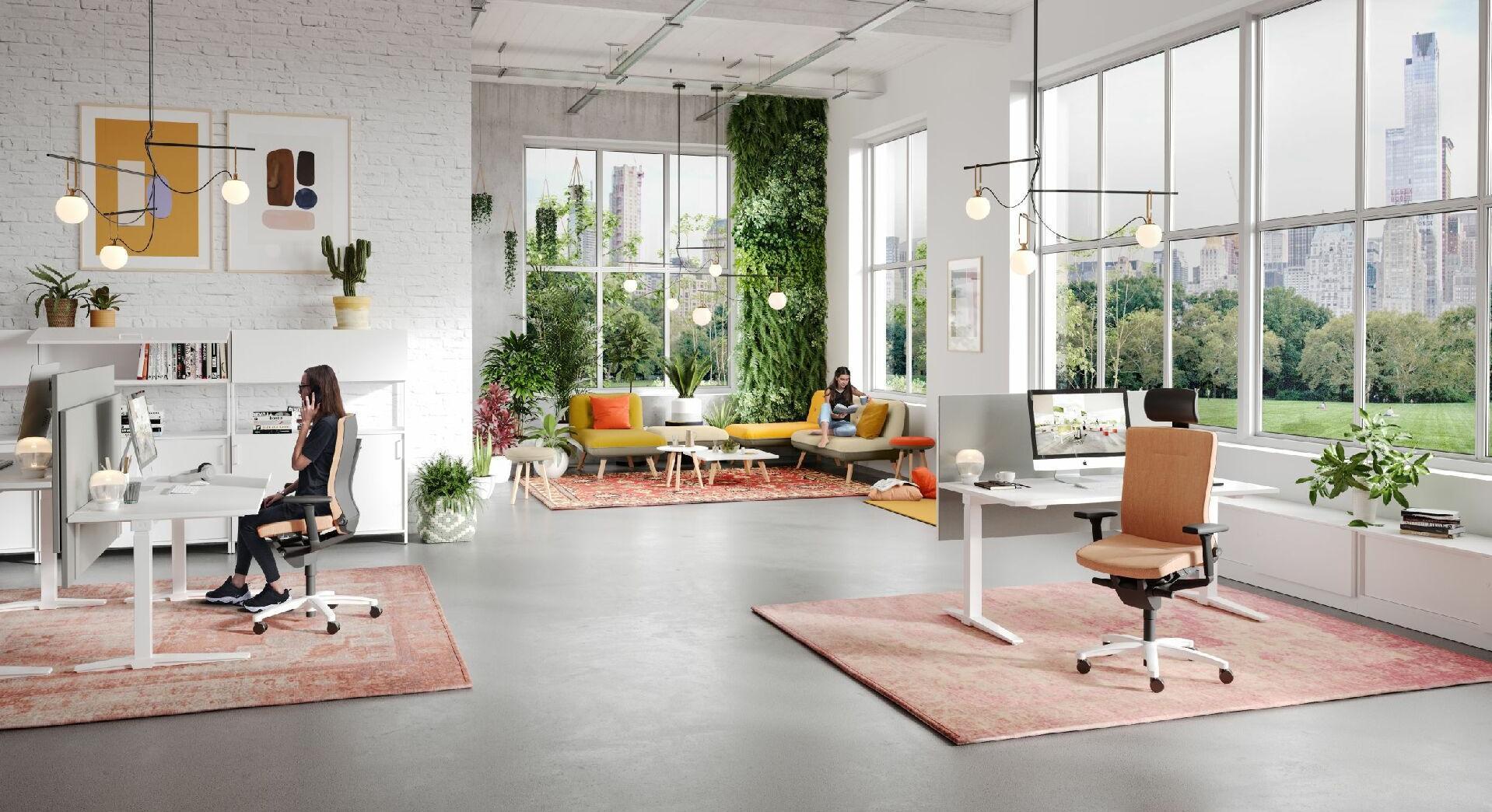 Crea hogar - proporciona vida a tu oficina.